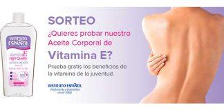 Instituto Español sortea su producto Aceite Corporal Vitamina E