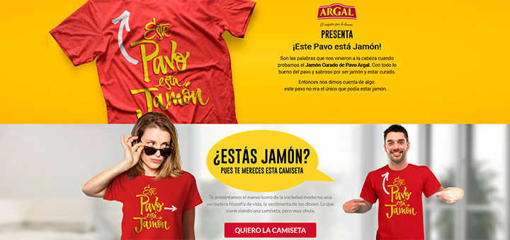 Consigue la camiseta gratis de Argal