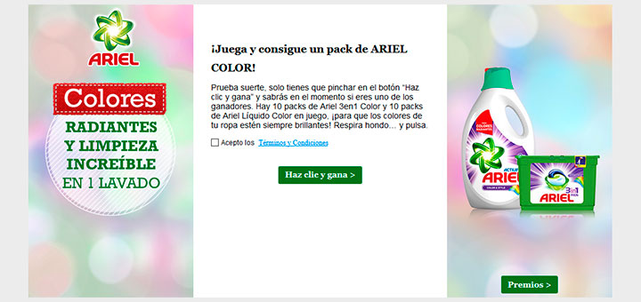 Gana un pack de Ariel Color