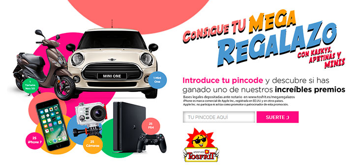 Consigue un mega regalazo con Tosfrit
