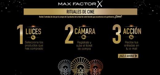 Consigue entradas de cine con Max Factor