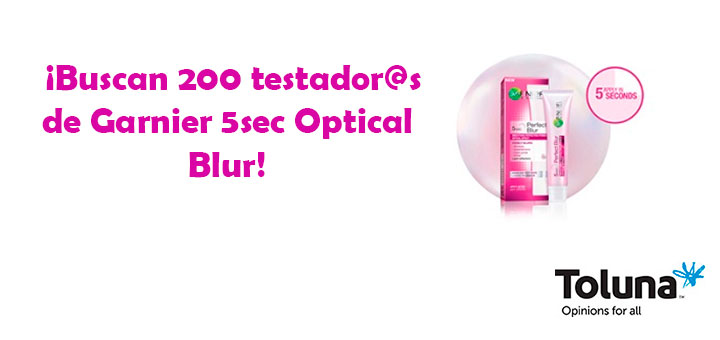 Dan a probar gratis Garnier 5sec Optical Blur