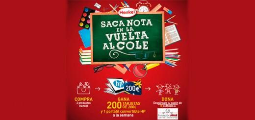 Gana tarjetas de 200€ con Henkel