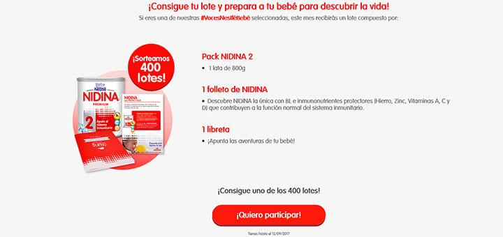Prueba gratis Nidina 2 con Nestlé