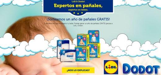Lidl sortea 1 año de pañales gratis Dodot