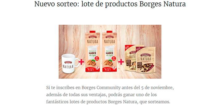 Sortean lotes de productos Borges Natura