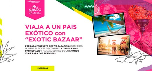"Viaja gratis a un país exótico con ""Exotic Bazaar"" de Glade"