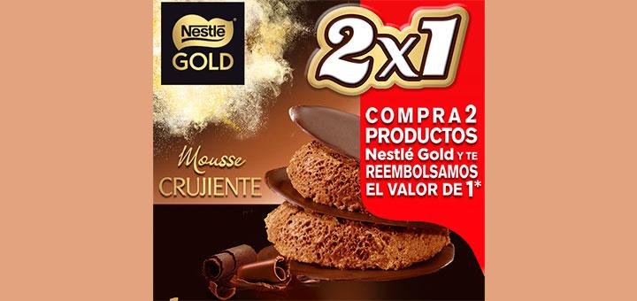 2x1 en Nestlé Gold