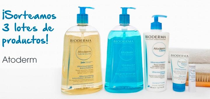 Bioderma sortea 3 lotes de productos Atoderm