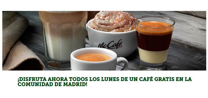 Café gratis los lunes en Madrid con McDonald's