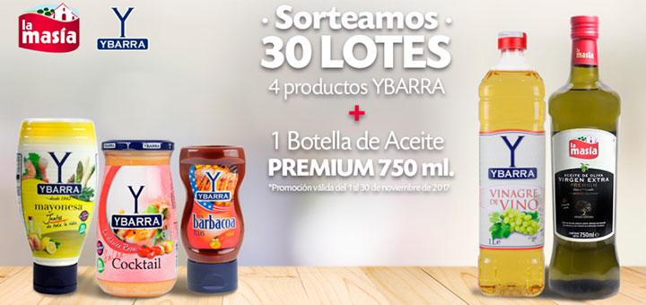 Sortean 30 lotes de Ybarra y La Masía