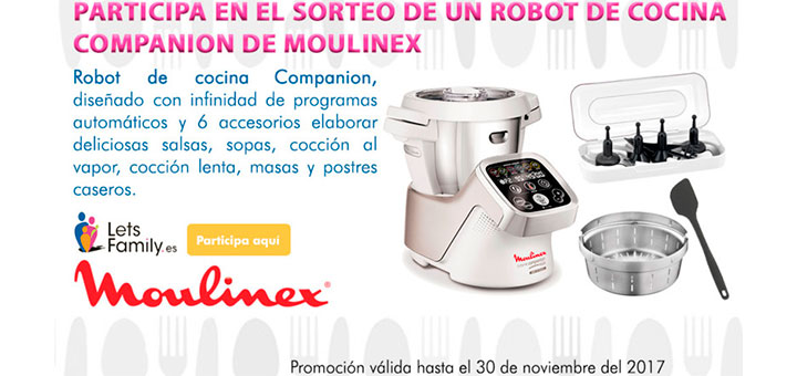Sortean un robot de cocina Moulinex