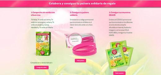 Consigue muestras gratis de Té Verde Pompadour