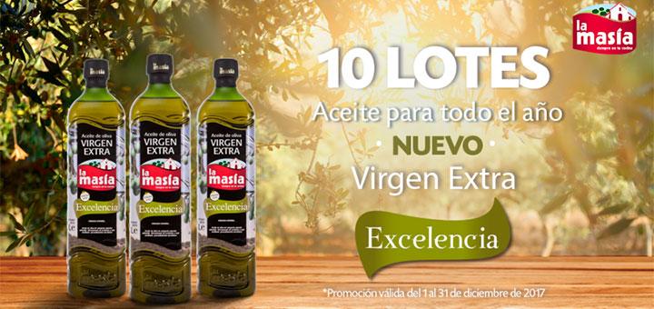 Regalan 10 lotes de Aceite de Oliva Virgen Extra Excelencia La Masía