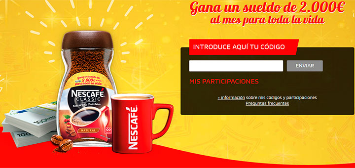 Gana un sueldo de 2.000€ con Nescafé