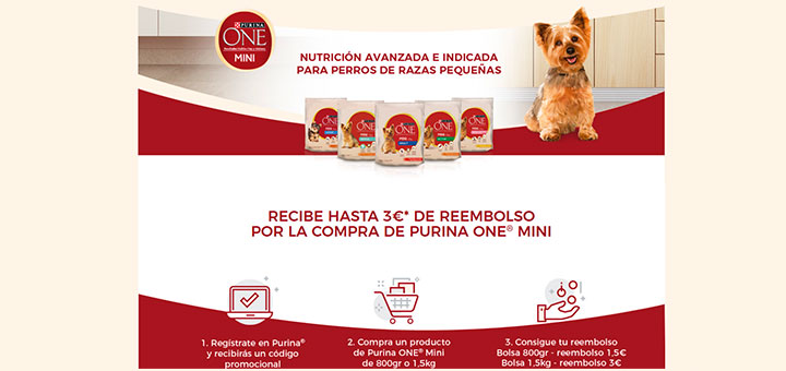 Reembolso en Purina One Mini