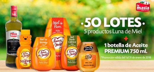 Sortean 50 lotes de productos Luna de Miel & La Masía