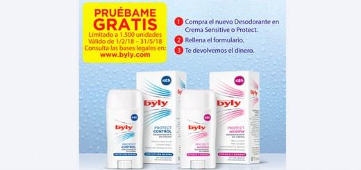 Prueba gratis el nuevo desodorante Byly