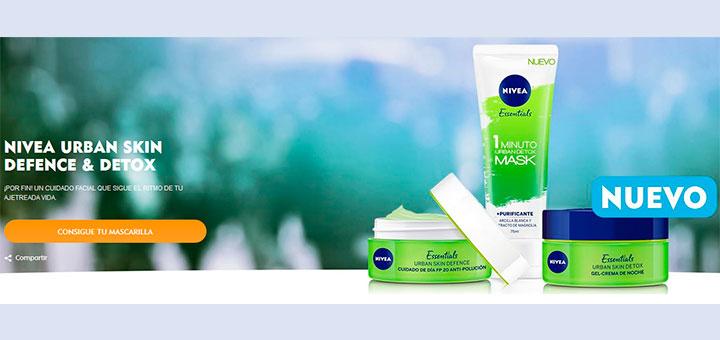 Prueba gratis Nivea Urban Skin Defence & Detox