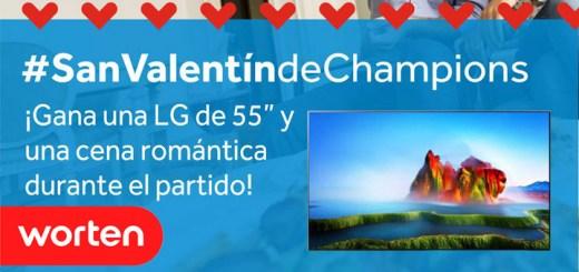 gana un televisor lg y cena romantica de champions con Worten