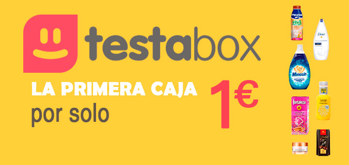 Testabox tu primera caja por solo un euro