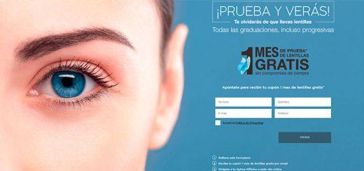 Consigue 1 mes de prueba de lentillas gratis con Afflelou