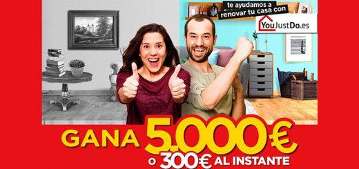 Gana 5.000 euros o 300 euros con YouJustDo