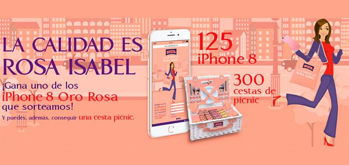 Isabel sortea 125 iPhone 8 Oro Rosa y 300 Cestas de Picnic