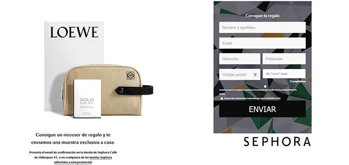 Llévate una muestra gratis de Loewe Solo Origami