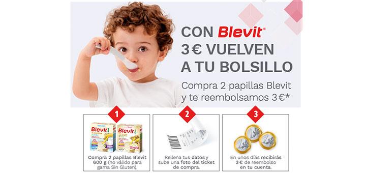 Reembolsan 3€ con Blevit
