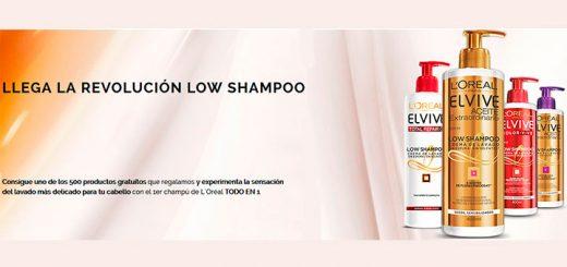 Reparten 500 productos Low Shampoo de Elvive