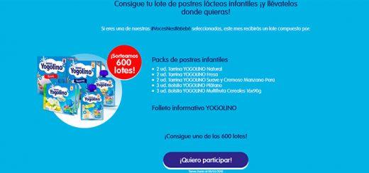 Sortean 600 lotes postres infantiles Yogolino