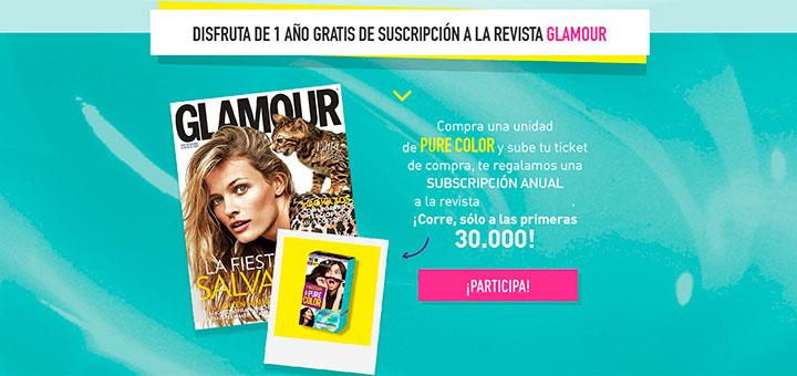 Consigue una suscripción gratuita a Glamour con Pure Color