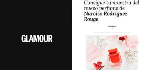 Muestras gratis del nuevo perfume de Narciso Rodriguez Rouge