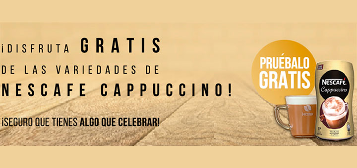 Prueba gratis Nescafé Cappuccino