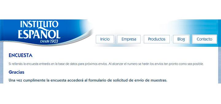 Reparten muestras gratis de Instituto Español