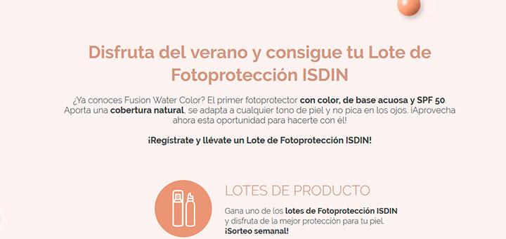 Consigue un lote de Fotoprotección Isdin