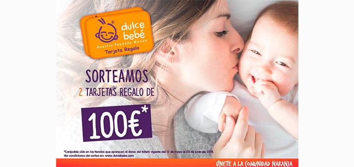 Dulce Bebé sortea 2 tarjetas regalo de 100€