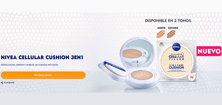 Prueba gratis Nivea Cellular Cushion 3 en 1