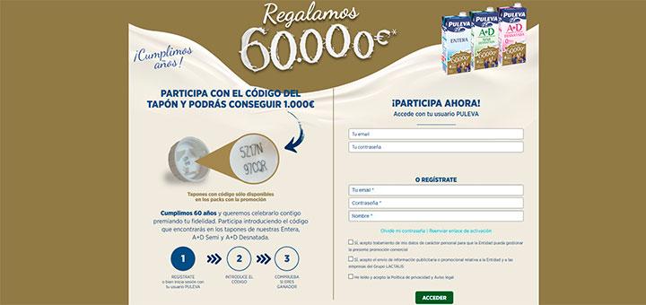 Puleva sortea 60.000 euros