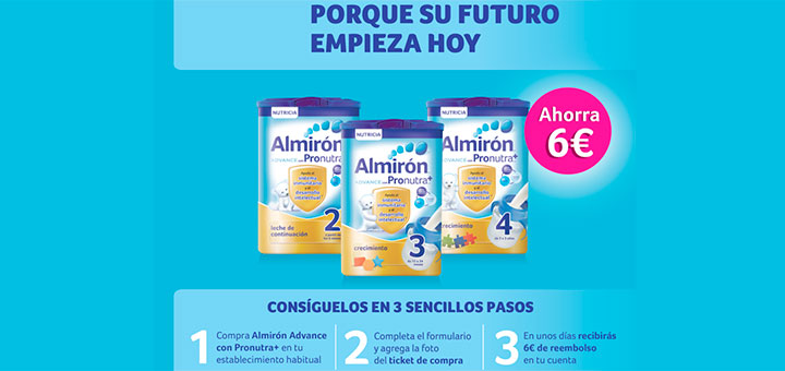 6€ de reembolso en Almirón Advance con Pronutra
