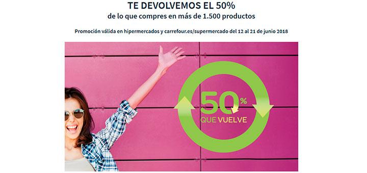 Carrefour te devuelve el 50% de tu compra