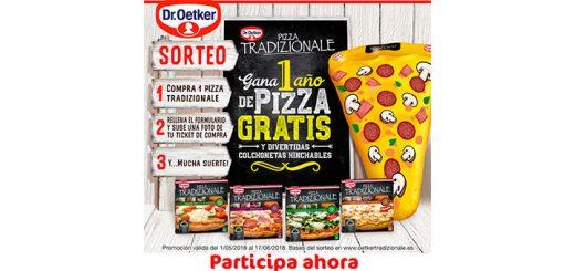 Gana 1 año de pizza gratis con Dr. Oetker