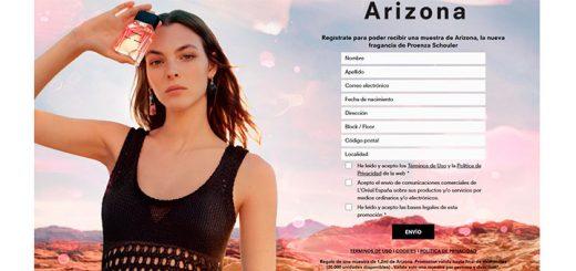 Muestras gratis del perfume Arizona