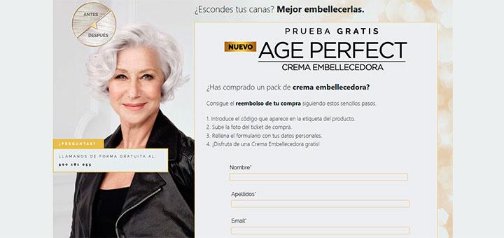 Prueba gratis Age Perfect de L'Oreal París