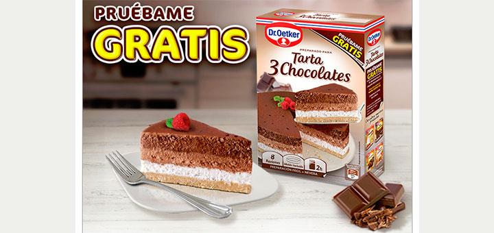 Prueba gratis Tarta 3 Chocolates Dr. Oetker