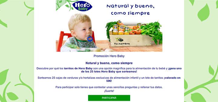 Sortean 25 lotes Hero Baby
