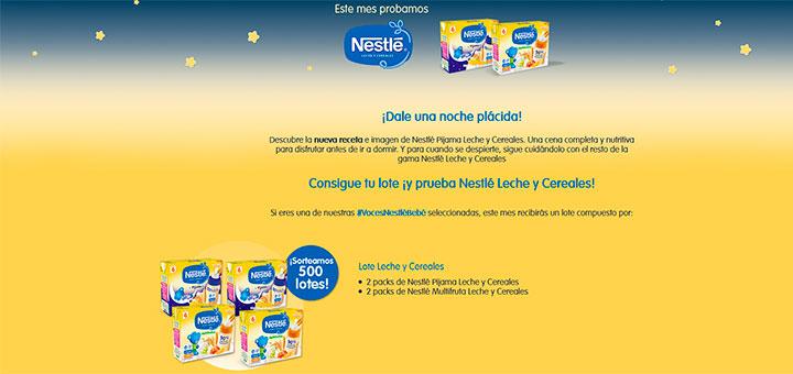 Sortean 500 lotes Nestlé Leche y Cereales