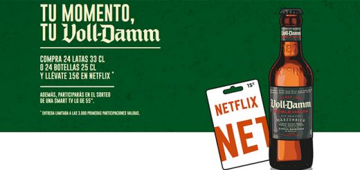 Llévate 15€ en Netflix con Voll-Damm