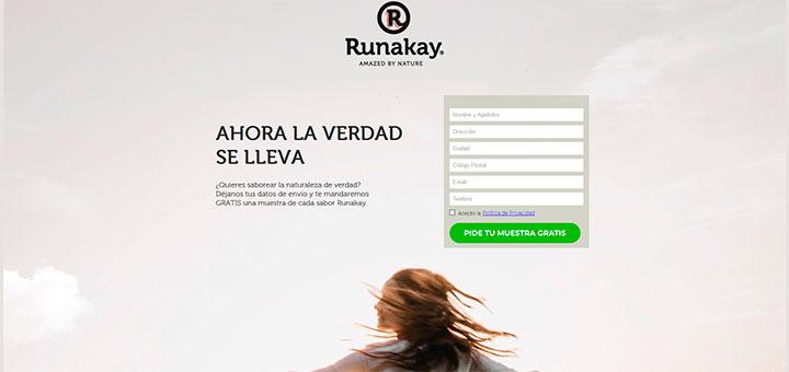 Muestras gratis de Runakay